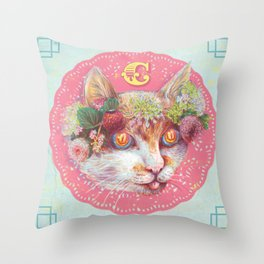 C cat Throw Pillow