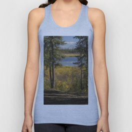 Forest Overlooking a Lake Unisex Tank Top