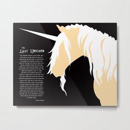 The Last Unicorn (inspired art) Metal Print