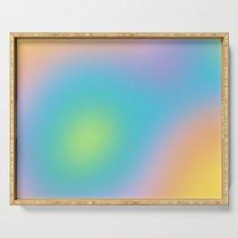 Pastel Rainbow Ombre Blur Design Serving Tray