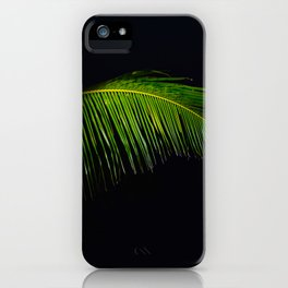 Single Tropical Palm Tree Branch Leaf iPhone Case