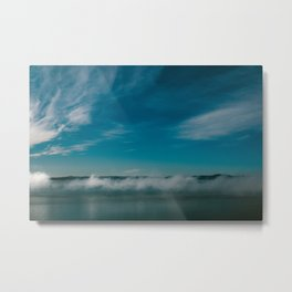 Cloud Line Metal Print