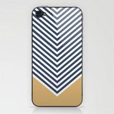 Gold & Navy Chevron iPhone & iPod Skin