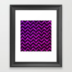 Chevron Purple Sparkle Framed Art Print