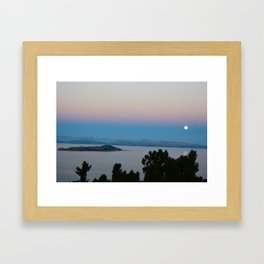 Isla Del Sol Moonrise Framed Art Print