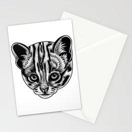 Leopard cat kitten - ink illustration Stationery Cards