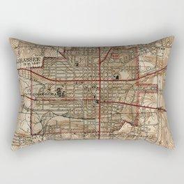 Vintage Map of Tallahassee Florida (1940) Rectangular Pillow