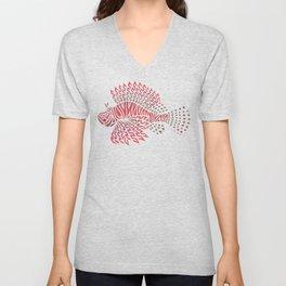 Tribal Lionfish Unisex V-Neck