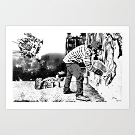Wastelander Graffiti Art Print