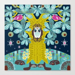 The Horse Chestnut {Night} Canvas Print
