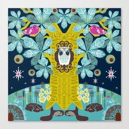 The Horse Chestnut {Night} Canvas Print