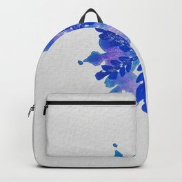 WATERCOLOR SNOWFLAKE 4 - blue and purple palette Backpack