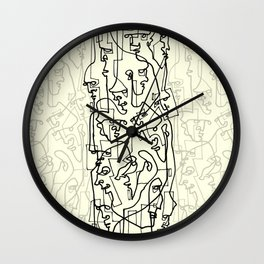 Curves And Lines Wall Clock