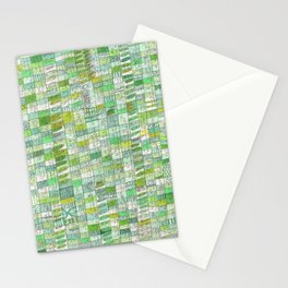 green 13 Stationery Cards