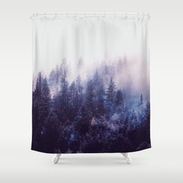 Misty Space Shower Curtain