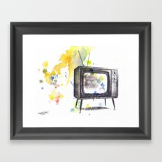 Retro Television Painting Framed Art Print