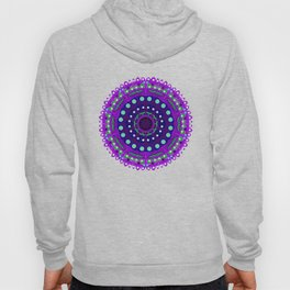 purple blue green night star mandala Hoody