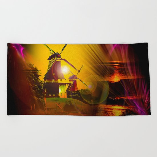 Greetsiel  Zwillingsmühlen Beach Towel