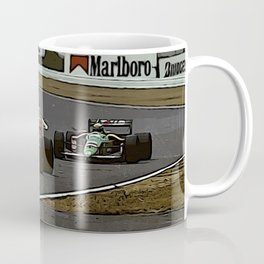 Ayrton Senna Formula 1 Battle Coffee Mug