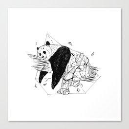 Geometric Season1:8 Panda Canvas Print