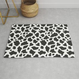 Black and White Cow Print Rug
