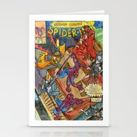 carnage Stationery Cards featuring SpiderMan: Maximum Carnage by ian densford