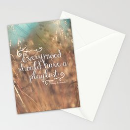 Strains of Silence by Bethany Kaczmarek | Quote 2 Stationery Cards