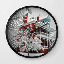 Green Roof Inn Wall Clock