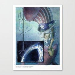 Uncle Sam - Calendar Character Series Canvas Print