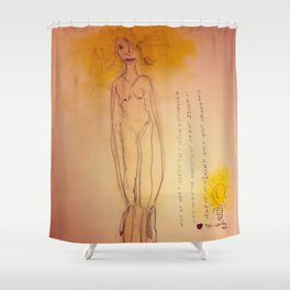 Lucille, The First Human Angel Shower Curtain