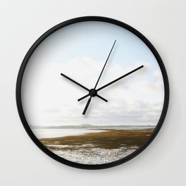 Low Tide at the Lighthouse Wall Clock