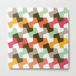 Geometric Pattern #56 (mint orange red) Metal Print