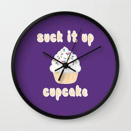 Suck it up Cupcake (Vanilla) Wall Clock