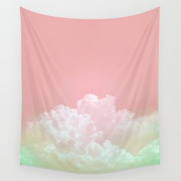 Dreamy Watermelon Sky Wall Tapestry