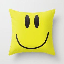 Acid house '91 vintage smiley face Throw Pillow