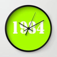1984 Wall Clocks featuring 1984 by TheWank