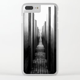 Holocaust memorial Geometry Clear iPhone Case