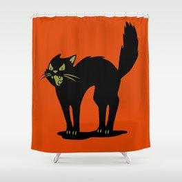 Halloween Cat Shower Curtain