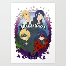 Miraculous Heroes of Paris Art Print