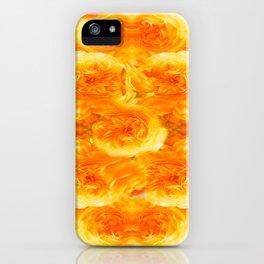 MODERN  GOLDEN ROSES FLOWERS CARPET iPhone Case