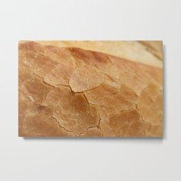 Crust of Bread Food Surface Metal Print