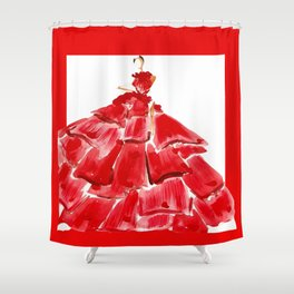 Lady M In red Shower Curtain
