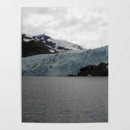 TEXTURES -- A Face of Portage Glacier Poster