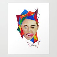 miley Art Prints featuring Miley by Mike Lampkin