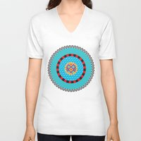 art deco V-neck T-shirts featuring Deco Art by MadTee