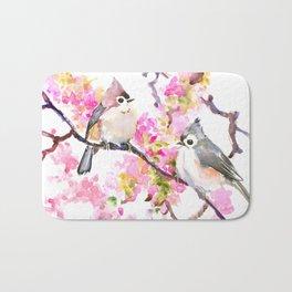 Titmice and Cherry Blossom Bath Mat