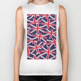 Union Jack Flags Biker Tank