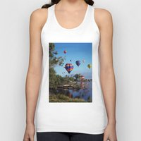 hot air balloon Tank Tops featuring Hot air balloon scene by Bruce Stanfield