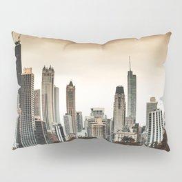 chicago skyline at dusk Pillow Sham
