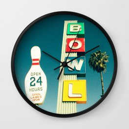 Linbrook Bowl - Anaheim, CA Wall Clock
